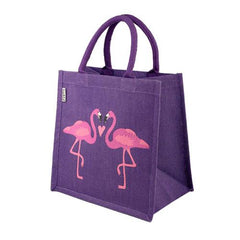 Jute Flamingo Shopping Bag