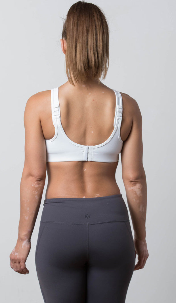 Ashley Sports Bra white back view