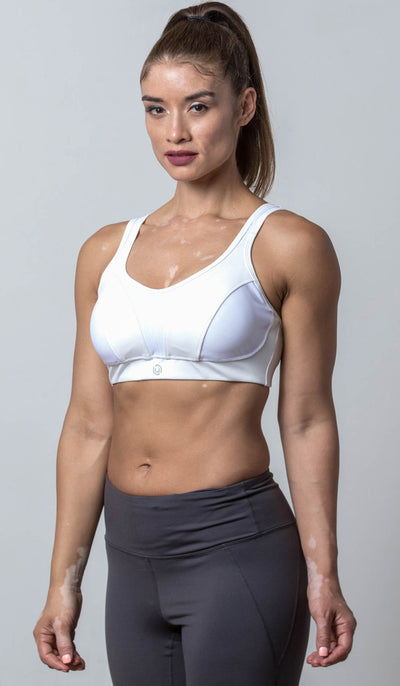Ashley Sports Bra white front view