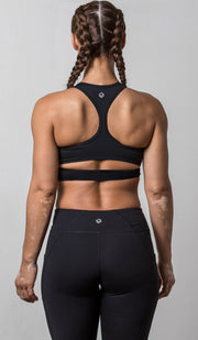 Emily Sports Bra black back view