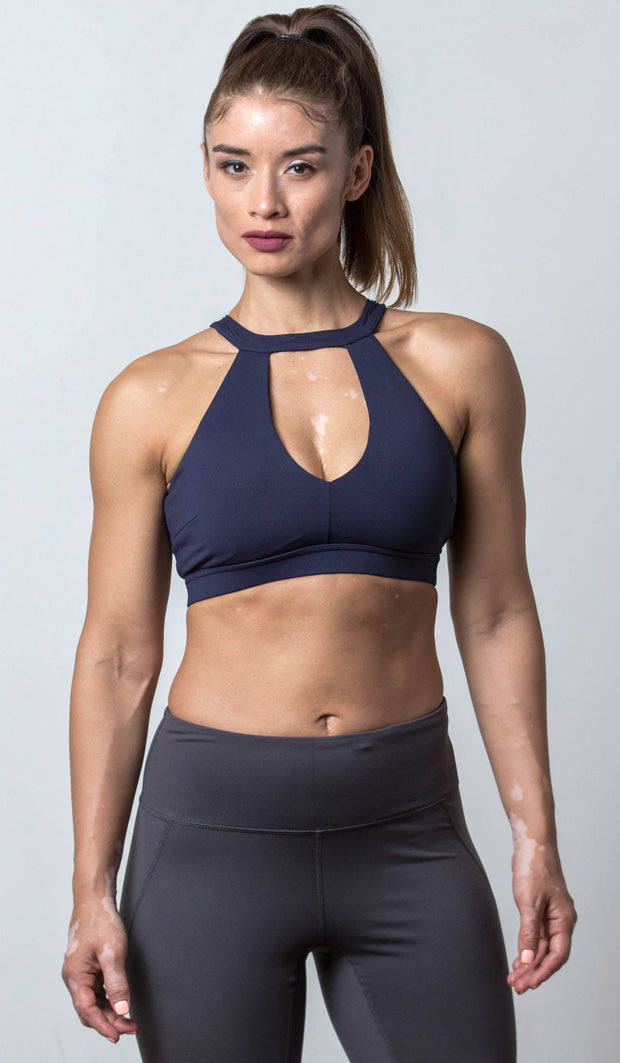 Lauren Halter Sports Bra navy front view
