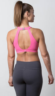 Lauren Halter Sports Bra pink back view