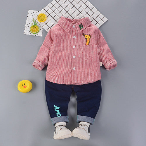 Baby Boys Striped Shirt +Jeans sets