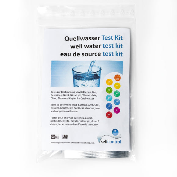 Quellwasser Test Kit (Trinkwasser Test Kit + Eisen/Kupfer Tests)