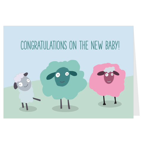 Congratulations on the New Baby! A6 Card & Envelope