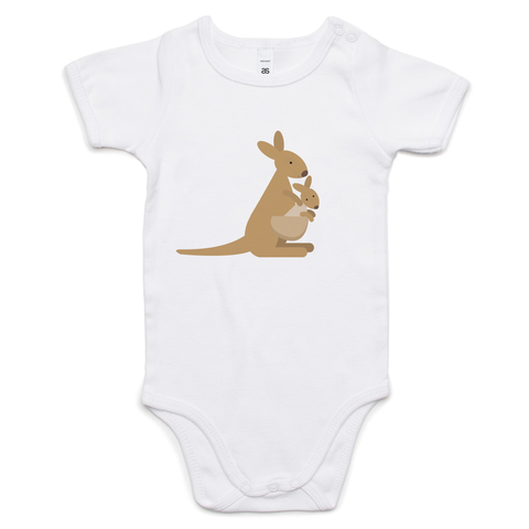 Kangaroo & Joey Cotton Baby Onesie