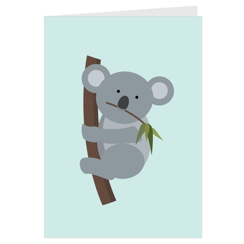 Koala in a Tree Card