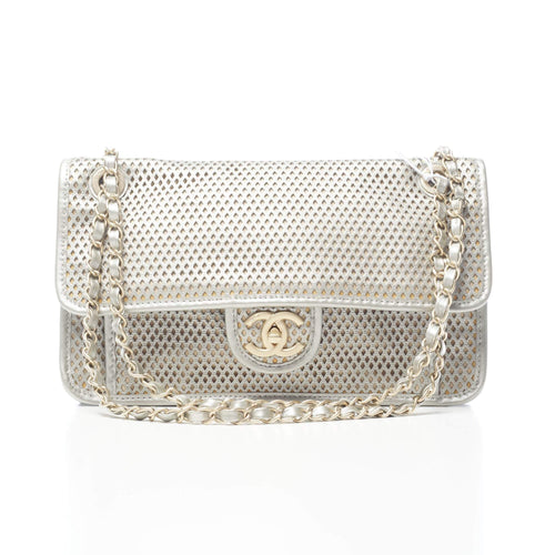 Chanel Silver Up In The Air Flap Bag