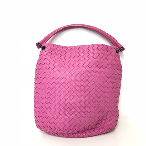 Bottega Veneta Intrecciato Pink Bucket Bag