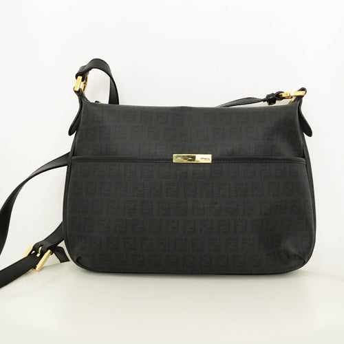 Fendi Zucca Canvas Crossbody Bag