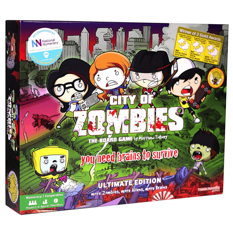 City of Zombies Maths Board Game - The Ultimate Edition