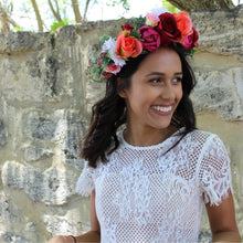 flower crown perth, silk flower crown perth, flower crown melbourne, sydney, mexican flower crown, classy hens night accessories, hens night accessories perth, red flower crown, pink flower crown