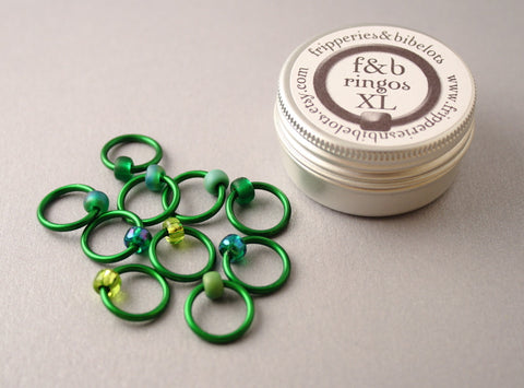 ringOs XL Evergreen - Snag-Free Ring Stitch Markers for Knitting