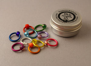 ringOs XL Spectrum - Snag-Free Ring Stitch Markers for Knitting