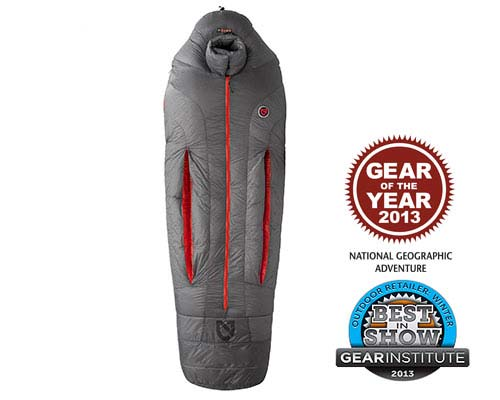 Canon Long Down Sleeping Bag for Subzero Temps by Nemo