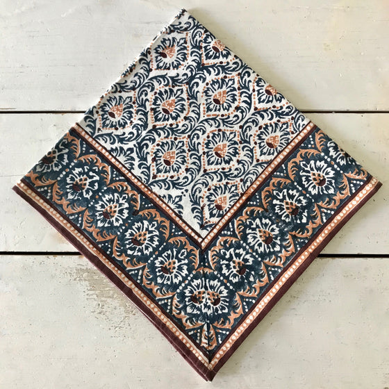 Prussia Hand Block Printed Napkins