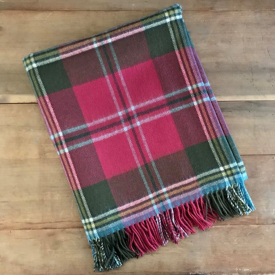 Scottish Tartan Throw - MacLean of Duart Weathered