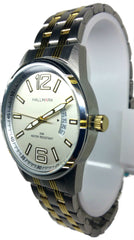 Analog Two Tone Day/Date Watch - Gold/Silver