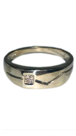 Custom Sterling Silver Ring - Square [14]