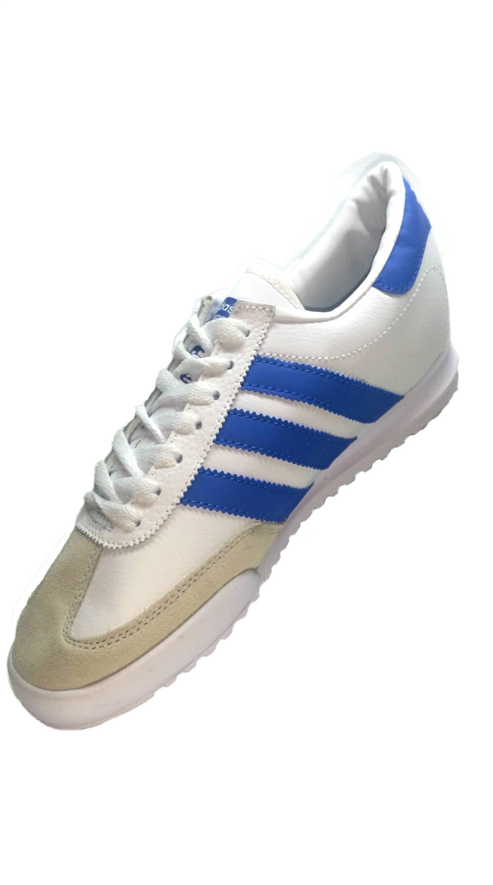 Adidas Beckenbauer White/Blue Stripes