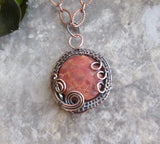 Red Jasper Stone Necklace, Cherry Creek Jasper Copper Pendant - Desert Shine Designs