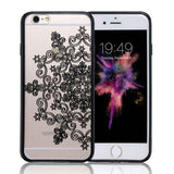 Floral Lace Acrylic iPhone Case - Shopichic
