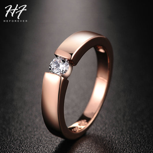 Unisex Rose Gold High Polished Ring - Shopichic