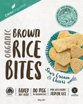Ceres Organics Organic Brown Rice Bites Sour Cream & Chives G/F 100g Box