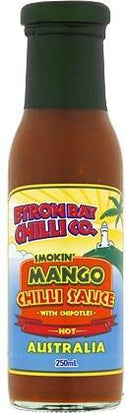 Byron Bay Chilli Smokin Mango Chilli Sauce 250ml-Health Tree Australia
