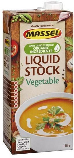 Massel Organic Liquid Vegetable Stock 1L