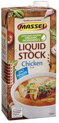 Massel Organic Liquid Chicken Stock Salt Reduced 1L