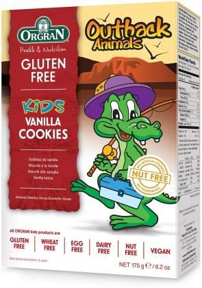 Orgran Kids Outback Animals Vanilla Cookies 175g