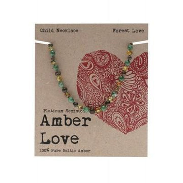 Amber Forest Love Child Necklace 33cm