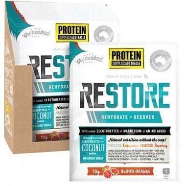 Restore Blood Orange Sachets 16x10g - PROTEIN SUPPLIES AUST.