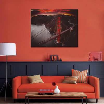Golden Gate Bridge Sunset Canvas Set - Canvasist