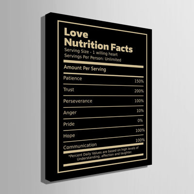 Love Nutrition Facts - Canvasist