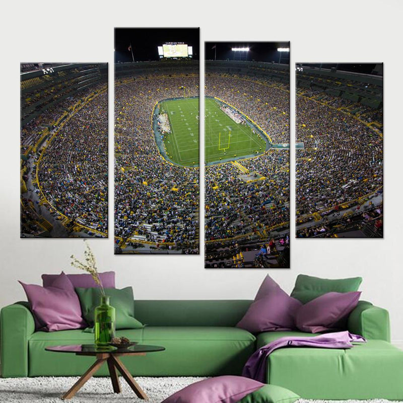 Frozen Tundra Stadium Canvas Set - Canvasist