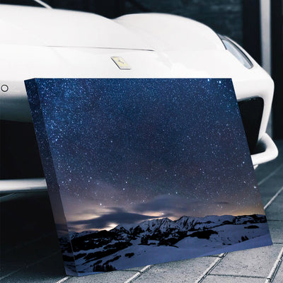 Stars Glazing over the Mountains Canvas Set