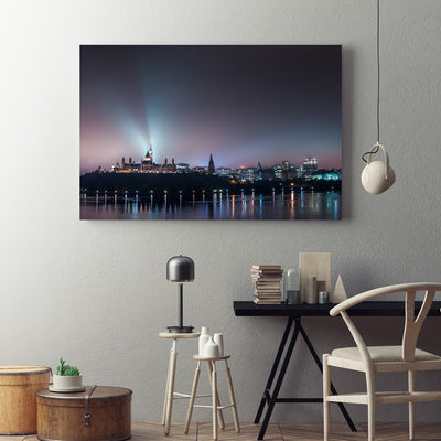 Ottawa Parliament Hill Lake View Canvas Set - Canvasist