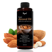 Ryaal Sweet Almond Oil - 100% Organic & Cold Pressed Oil - For Hair & Skin - Ryaal