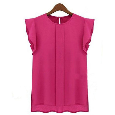 Womens Casual Ruffle Sleeve Lovely Shirt