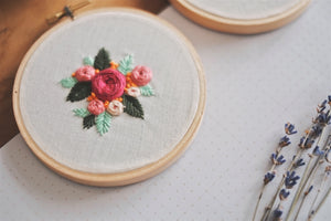 Petite Floral Garden Embroidery Hoop | by A X Ally Crafts Co - hello flowers!