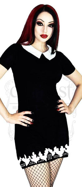 Church Burning Black Mini Dress - Shiloh - Dr Faust