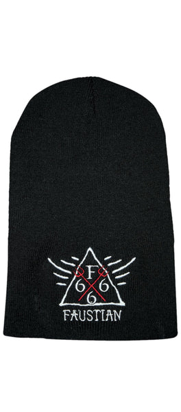 Red Pitchforks 666 Black Beanie - Lucky - Dr Faust