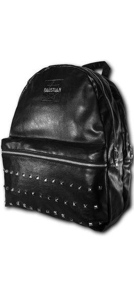 Faustian Square Pyramid Vegan Leather Black Backpack - Adder - Dr Faust