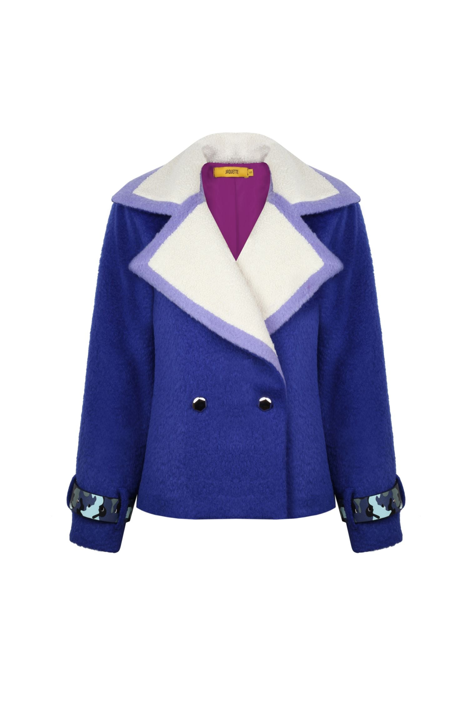 Sax Colored Wool Peacoat