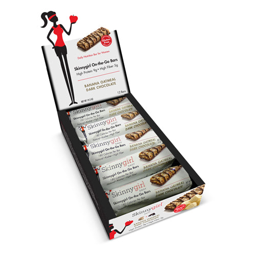 Skinnygirl On the Go Bars Banana Oatmeal Dark Chocolate Box 12 Bars | Bulu Box - sample superior vitamins and supplements