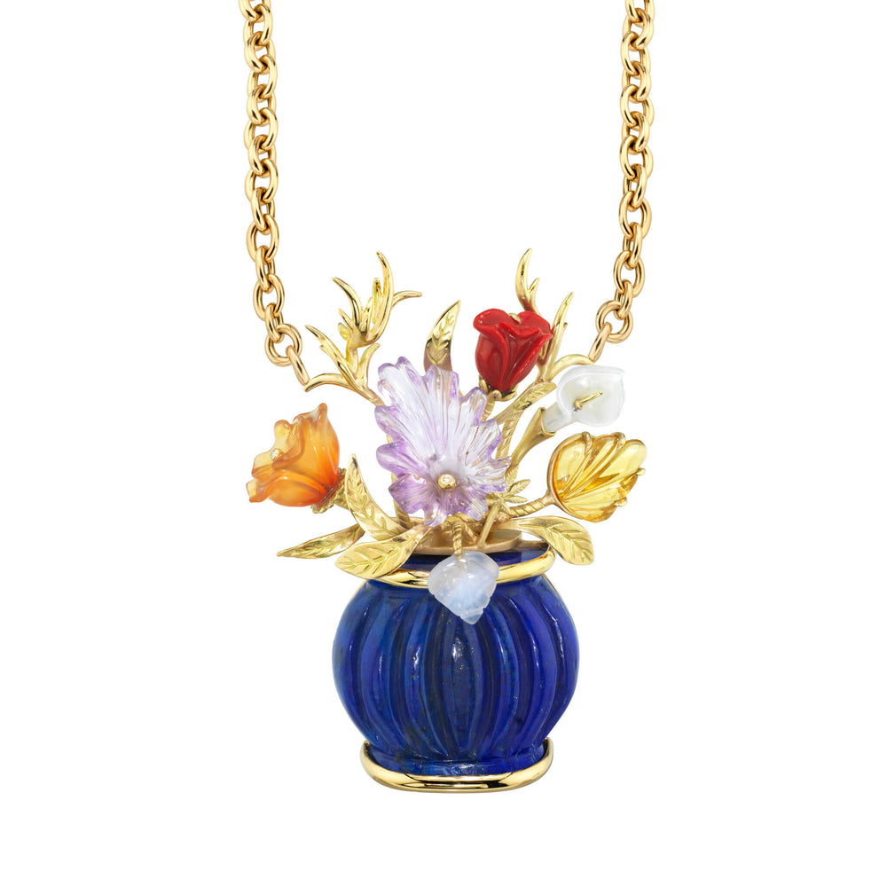 Large Flower Vase Necklace