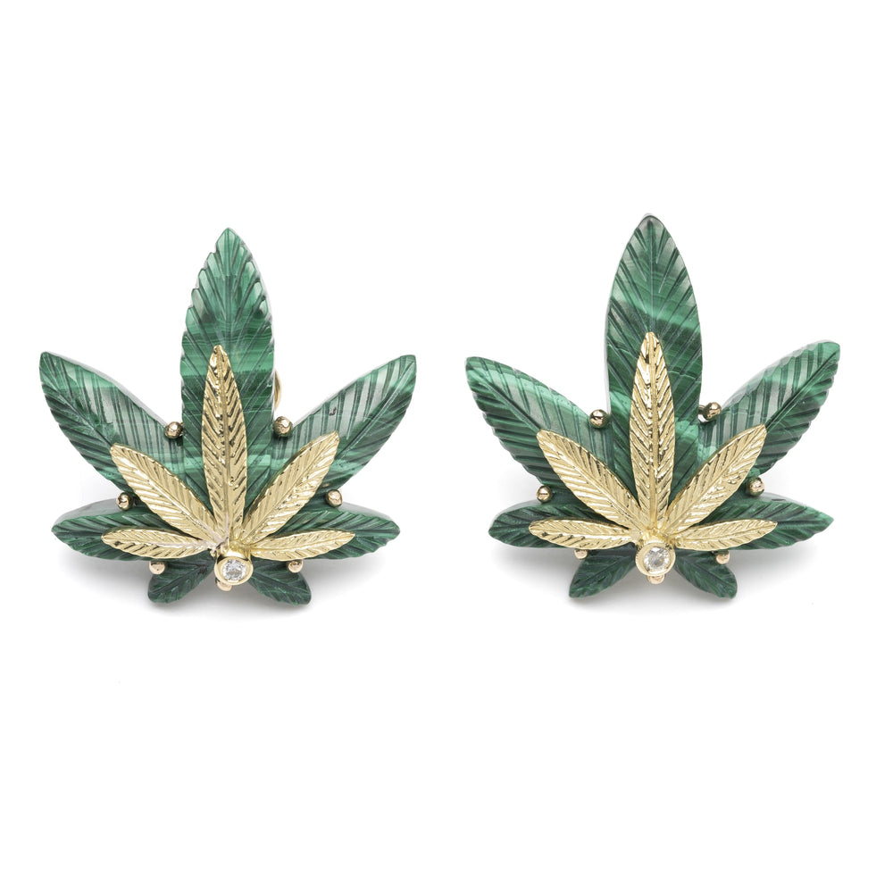 Large Cannabis Leaf Earrings