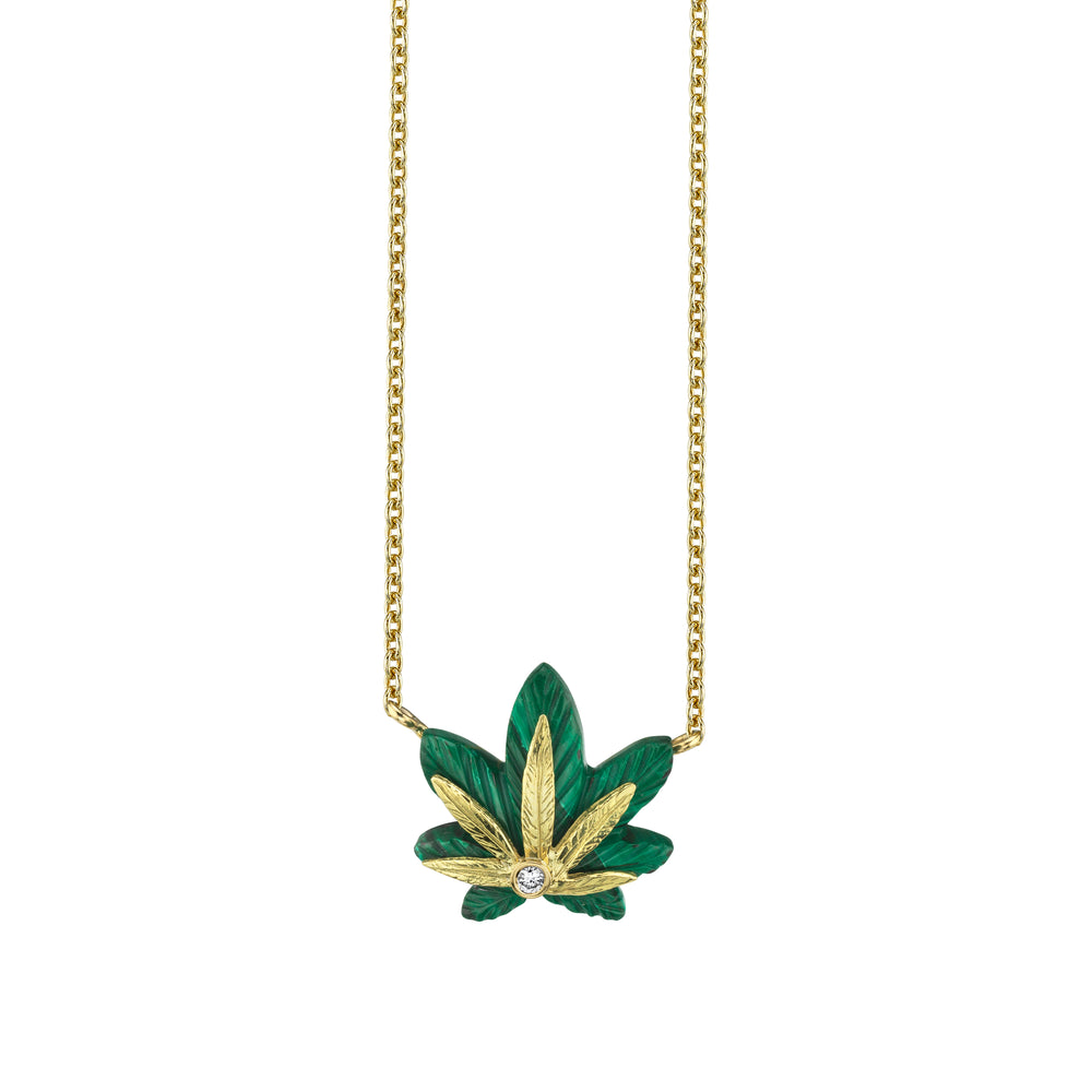Extra Small Cannabis Necklace